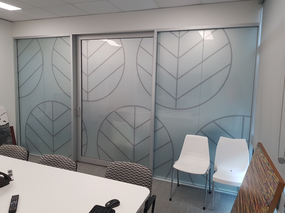 detailed vinyls on interior sliding door